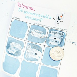 Do You Want To Build A Snowman – DIY Scratch Off Valentine