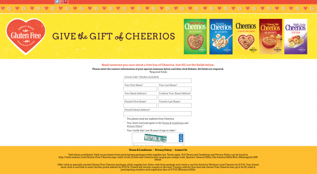 Cheerios buy a box give a free box campaign