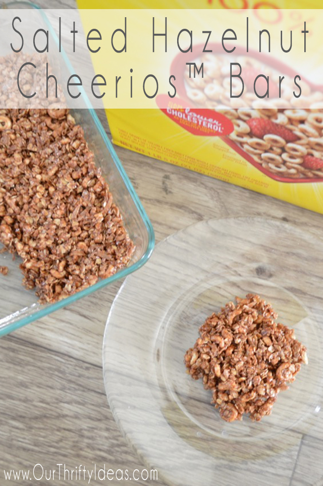 salted hazelnut cheerio bars