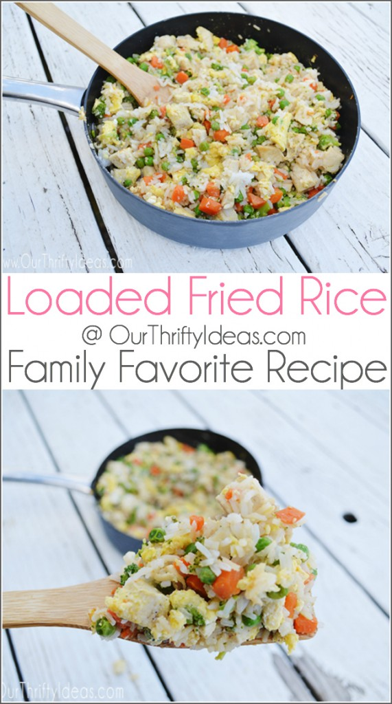 Loaded Fried Rice is our favorite throw together meal. Perfect for a quick weeknight dinner.