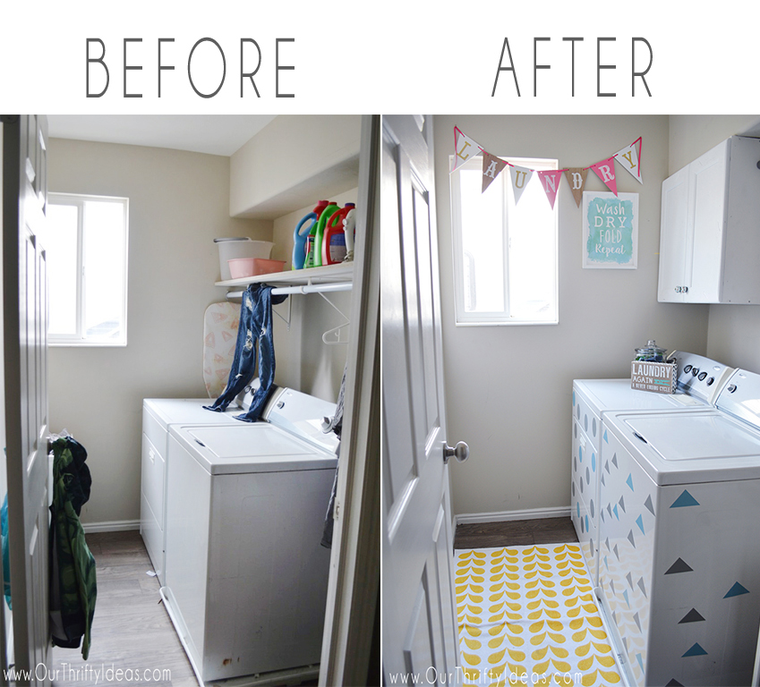 Laundry Room Makeover - Making the room pretty!