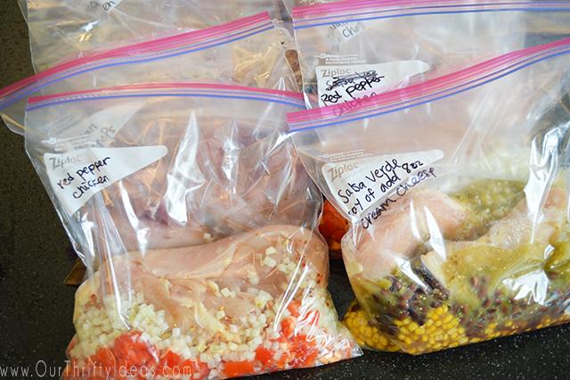 crockpot cooked freezer dump meals