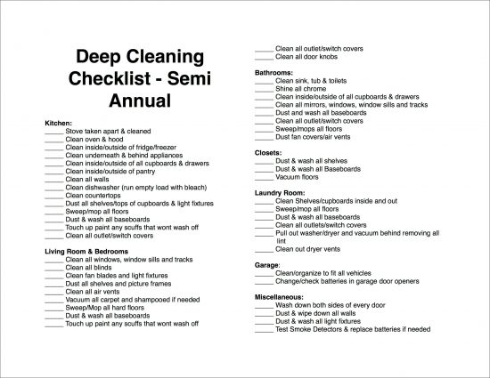 Deep Cleaning House Checklist Day 31 Printable Deep