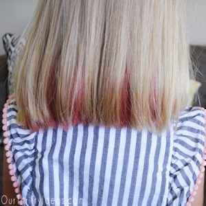 hair colored using KOOL-AID square