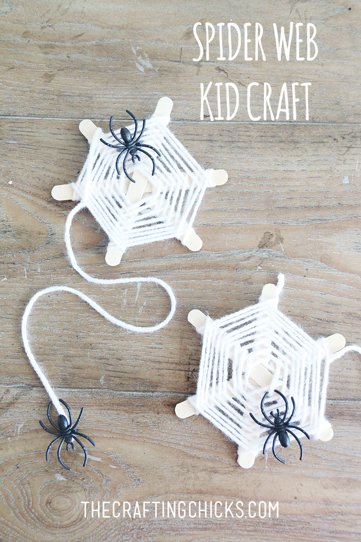 spider web kids craft