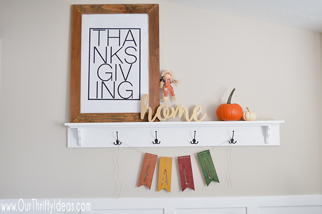 A free download that you can get printed HUGE for less than $5. Fun way to decorate for Thanksgiving.
