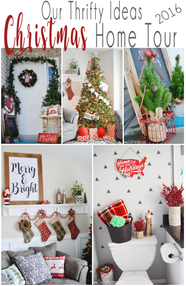 Our Thrifty Ideas 2016 Christmas Home Tour