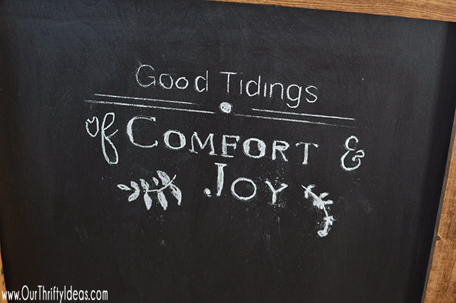 Create a customized stencil to use on your chalkboard using the Cricut cutting machine.