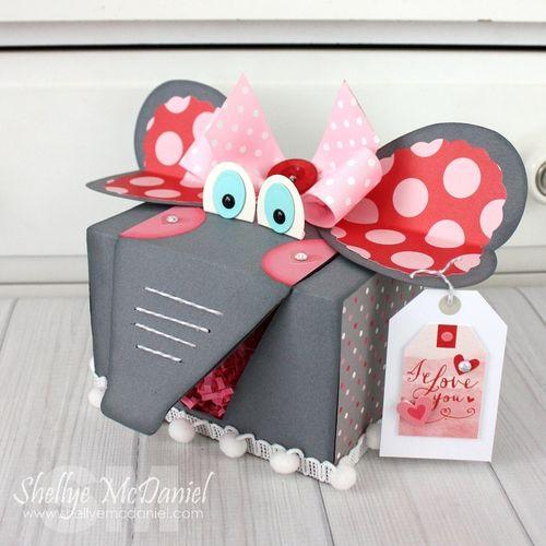 Elephant Valentine Box