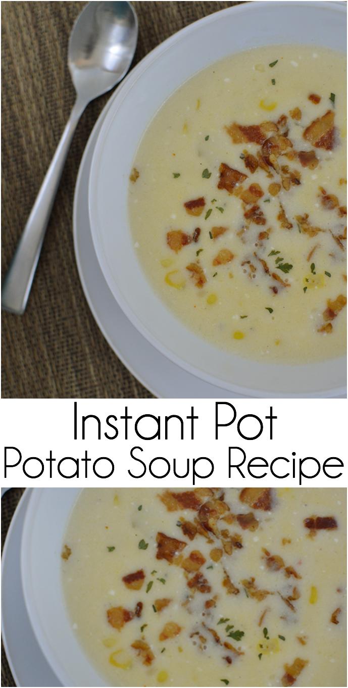 Potato Soup make in the Instant Pot Pressure Cooker