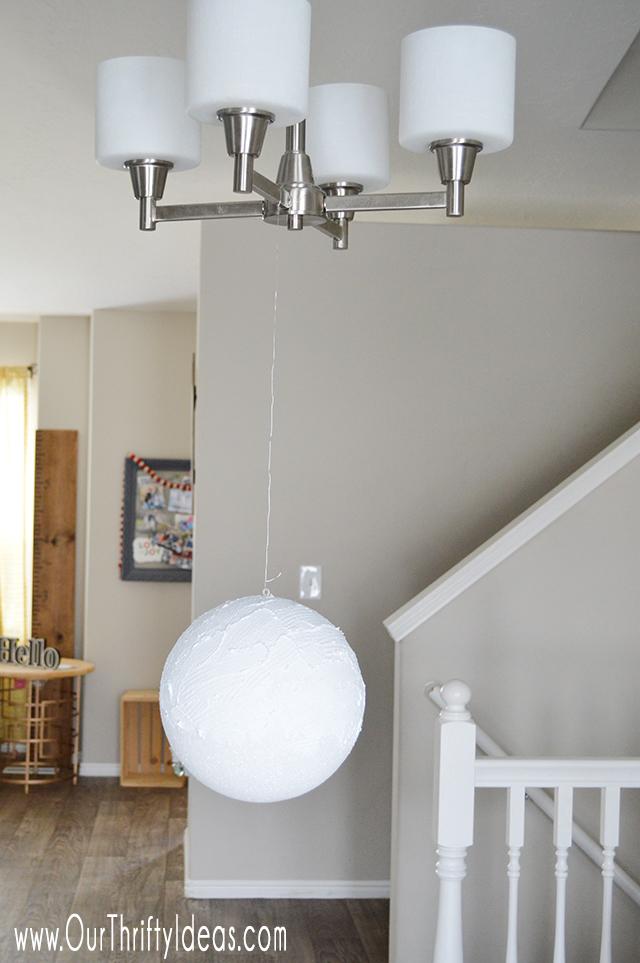 DIY globe made from styrofoam