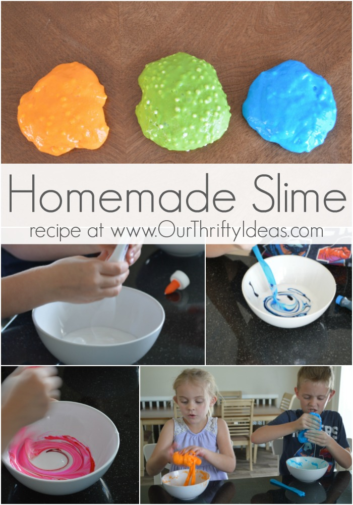 How to make homemade slime with the kids