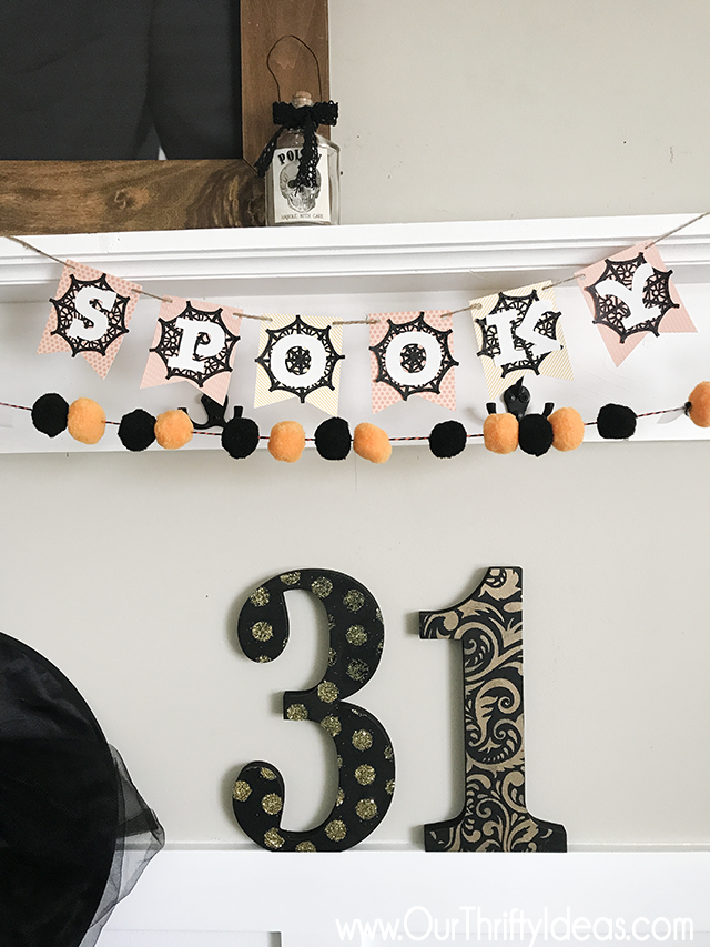 Making a Halloween paper banner using the Cricut Maker Machine