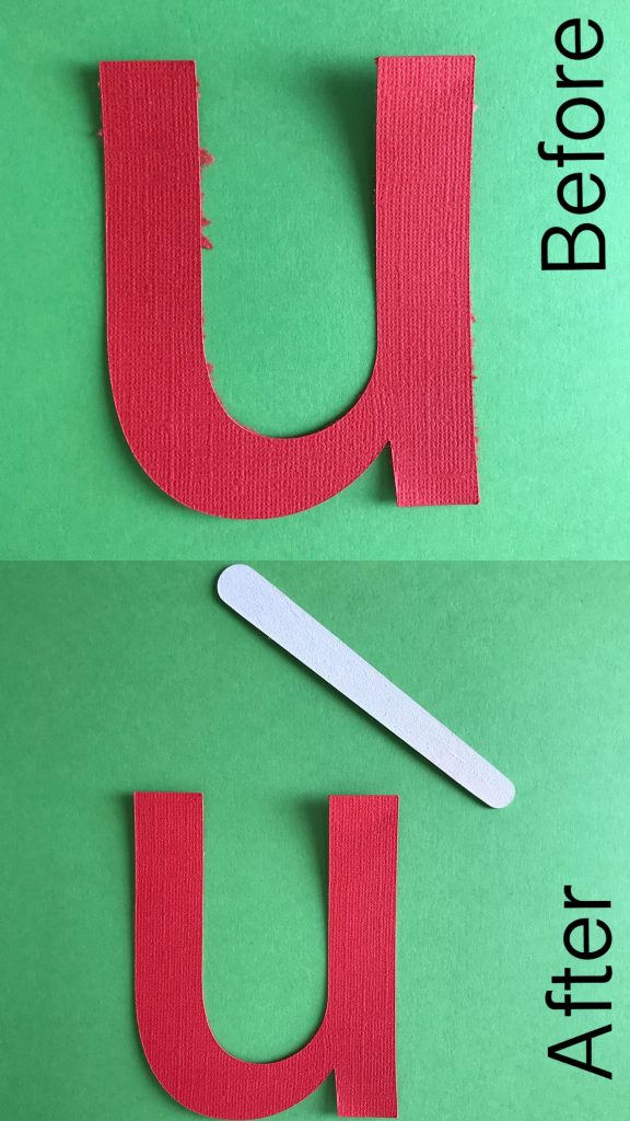 Eliminate the paper fuzzies to create a clean cut