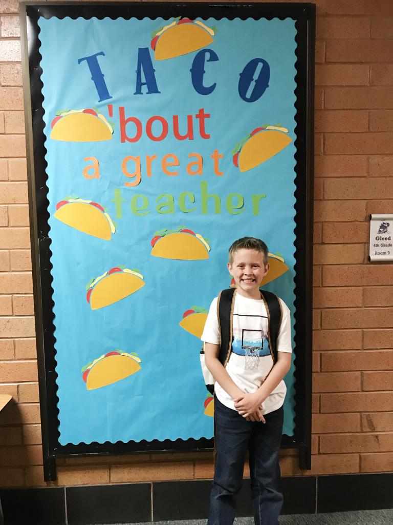 Taco 'bout a great teacher, teacher appreciation board with Cricut