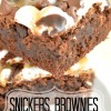 {halloween recipes} Snickers Brownies & Zombie Punch