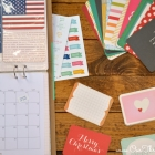 semi homemade scrapbook calendar