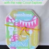 Spring tie-dye plaque with Cricut Explore