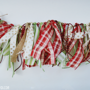 DIY Christmas Ribbon Garland - Tutorial