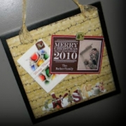 Holiday Card Magnet Board