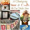 Thanksgiving Craft Round-up
