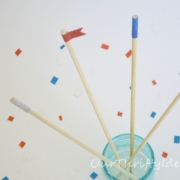 {Tutorial} Sparkly Stir Sticks made with American Crafts Glitter