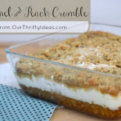 {Recipe} Caramel & Peach Crumble