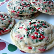 {virtual bake sale} funfetti Christmas cookies