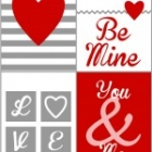 4 free Valentine coordinating printables