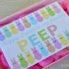 FREE Easter Peeps printable