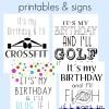 FREE Its my birthday printables