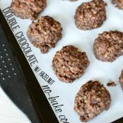 Double chocolate & hazelnut no-bake cookies