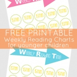 Back to School - weekly reading time chart printable