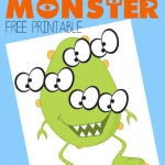Pin the Eyes on the Monster - Free Printable