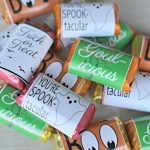 mini candybar wrappers - Halloween