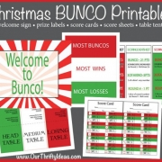 Christmas BUNCO Printable Kit