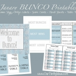 Winter Themed Bunco Printables