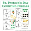 St Patrick's Day Counting Puzzles - Free Printable