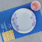 DIY Picnic Placemat + Chicken Pasta Salad Recipe