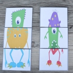 Mend a Monster Card Game - Free Printable