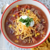 10 Minute Taco Soup - And Freeze the leftovers!!!!