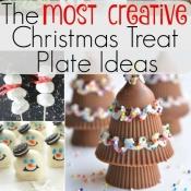 Creative Christmas Treat Plate Ideas