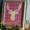 Buffalo Check Reindeer Christmas Printable
