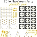 2016 New Years Party Printable Pack
