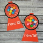 Gumball Machine Printable Valentine Card