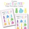 Don't Eat Peep Easter Printable Game