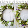 Making Over a Thrifted Spring Wreath