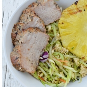 Peppercorn Garlic Pork Tenderloin - Grilling recipe