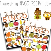 Thanksgiving BINGO free Printable Game