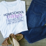 Homeschool t-shirt for Mom - Tutorial